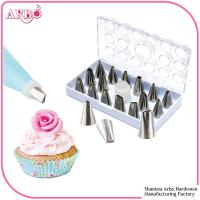 Buy cheap FDA LFGB certificated 16pcs cake decorating tools cake nozzle icing piping from wholesalers