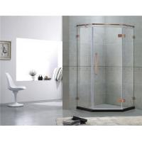 Red Bronze Frameless Swing Shower Enclosures With Stainless Steel Hinge and Support Bar for sale