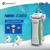 China CE Certificate High-efficiency Cryotherapy 5 Handles Cryolipolysis+RF+Cavitation Slimming Machine for sale