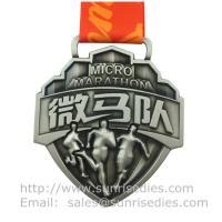 Wholesale Embossed 3D event medal with ribbon, designer 3D metal medal with embossed figure from china suppliers