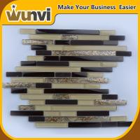Wholesale Proffesional Strip Mosaic  Tile , Wall  Glass Tiles For Bathroom Terrace Decor from china suppliers