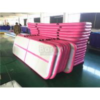 Wholesale Durable Soft Pink Inflatable Air Track Gymnastics Mat / Floating Water Mat from china suppliers