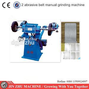 China Manual Two Sand Belt Grinding Metal Sanding Machine Electric Energy Saving on sale