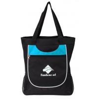 Wholesale Large Waterproof Black Polyester Shopping Bag Printing With Front Pocket from china suppliers