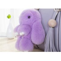 Wholesale Lovely Shape Fluffy Rabbit Keychain , Pendant Soft Bunny Keychain 13 -25cm from china suppliers