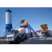 China Hopper Lift Ready Mix Concrete Batch Plant Small Mini Portable Stationary 50m3 / H on sale