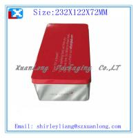Quality rectangle wine tin box for sale