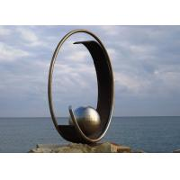 Wholesale Stainless Steel Outdoor Garden Sculpture Public Art Sculpture With Sphere from china suppliers