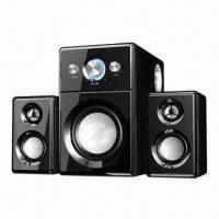 Buy cheap Wooden Hi-Fi Multimedia Speakers with 25W Woofer Power and USB Jack from wholesalers