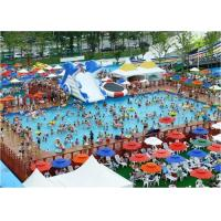 China Large Frame Outdoor Inflatable Water Park With Pool , Inflatable Backyard Water Park on sale