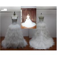 Wholesale Fashion Ball Gown Scoop Lace up Closure Real Sample Wedding Dresses / Bridal Gown from china suppliers