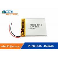 Wholesale 3.7v lithium polymer battery with 450mAh 283746pl li-ion rechargeable battery OEM manufacturer from china suppliers