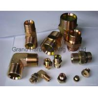Wholesale NPT BSP Metric thread hexagon SAE steel fitting zinc plated,OEM and ODM business from china suppliers