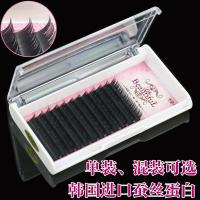 Wholesale Professional Semi Permanent Eyelash Extensions , Salon Individual Eyelashes B Curl Lashes from china suppliers