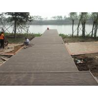 China Solid WPC Deck Flooring For Park Decoration , Recycled Decking Material on sale