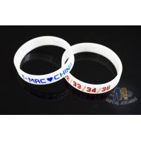 Multi Colored Custom Plastic Bracelets Embossed Silicone Wristbands For Events for sale