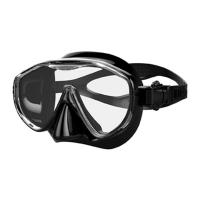Wholesale Black Kids Free Diving Mask One Lens Face Mask Scuba Diving Equipment from china suppliers