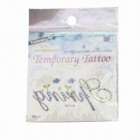 Wholesale Water Transfer Tattoo Stickers, Easy to Apply and Remove, Customized Designs are Accepted from china suppliers