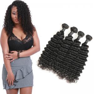Wholesale Unprocessed Deep Wave Brazilian Hair Bundles , Deep Wave Human Hair Weave from china suppliers