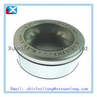 Wholesale christmas round cookie tin can from china suppliers