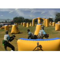 Wholesale 0.9mm Inflatable Triangle Bunkers Paintball , Outdoor Game Bunker Field For Play from china suppliers