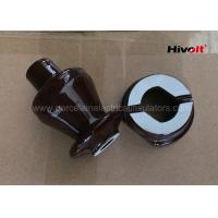 Quality 1KV 250A LV Ceramic Insulator Bushing , Overhead Line Insulators Chocolate Brown for sale