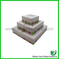 Quality Cupcake boxes cheap PVC winodw and insert Custom-designed for sale