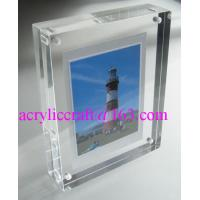 China Transparent Perspex / PMMA / Acrylic Photo Frame With Magnet 5X7 on sale