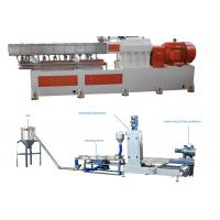 Wholesale PP Caco3 Double Screw Extruder Granulation Machine Water Ring Cutting System from china suppliers