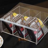 Wholesale 4mm Food Display Case Clear Acrylic Storage Trays With 6 Lattices from china suppliers