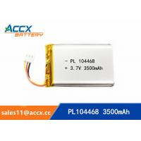 Wholesale 104468pl 3500mAh 3.7v high capacity lithium polymer battery li-ion rechargeable for cordless phone, led light from china suppliers