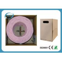 Wholesale 4 Pairs UTP Cat6 Lan Cable Wires Easy Pull Box 1000FT Black White Blue PVC Jacket from china suppliers