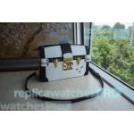 China Newest Replica LV Bag White Monogram Reverse Canvas lv  bag Trunk Clutch Handbag for sale