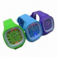 Wholesale Glowing Silicone Wrist Watches, LED Watch Dial, OEM Orders and Designs Welcomed from china suppliers