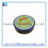Wholesale Round Shape Large Size Cookie Storage Tin Box from china suppliers