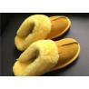 Wholesale LADIES SHEEPSKIN LUXURY MULE SLIPPERS lamsbwool-lined slipper mule with sheepskin from china suppliers