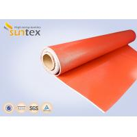Wholesale 0.7 mm Thickness Silicone Coated Fiberglass Cloth For Fire Curtains And Fire Door from china suppliers