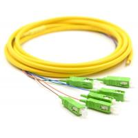 Wholesale Simplex Fiber Optic Pigtail With SM Yellow Fiber Optic Cable Low Salt Spray from china suppliers