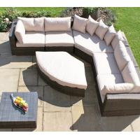 China waterproof outdoor balcony corner sofa set sectionals garden aluminum sofas with cushions for sale on sale