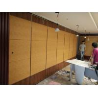 Quality Hotel Banquet Hall Soundproof Room Divider Sliding Folding Partition Operable MDF Wall Ceiling Track Color Customizable for sale