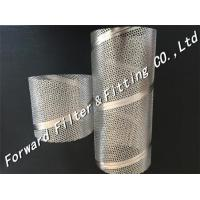 China Perforated Stainless Steel Tube , Spiral Welded Tube For Machinery / Strainer on sale