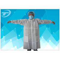 China PP White Hospital Medical Disposable Lab caot / Disposable Protective coat on sale