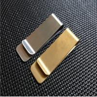 China Classic Design Strong Metal Money Clips With Gold Or Silver Plating for sale