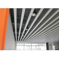 Fireproof Indoor Decoration Aluminium Strip Ceiling Anodic Oxidation Surface for sale