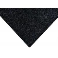 Wholesale Black / Dark Grey Acrylic Glitter Polyester Felt Fabric - 23 X 30cm from china suppliers