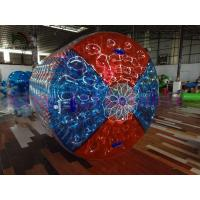 Wholesale PVC / TPU Inflatable Water Toy / Roller  With Colorful Dots / Color Cross On Ends from china suppliers