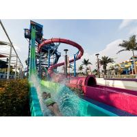 Buy cheap Adult Fast Fall Water Slide Playground / Fiberglass Slide Theme Water Park Project from wholesalers