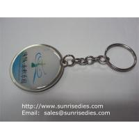 Wholesale Epoxy Dome Coin Holder Keychains, Clear Resin Domed Print Coin Holder Key Ring from china suppliers