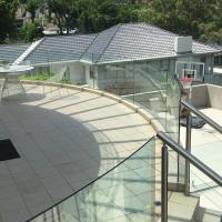 Wholesale High Quality Outdoor Curved Aluminum Glass Balustrade / Glass Railing from china suppliers