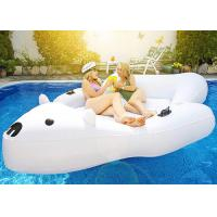 Wholesale Giant Polar Bear Pool Float Swim Lounger Floating Island Raft with Cupholders from china suppliers